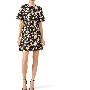 Marni Black Floral Printed Dress Size 38